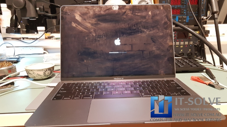 Macbook Air water damage repair