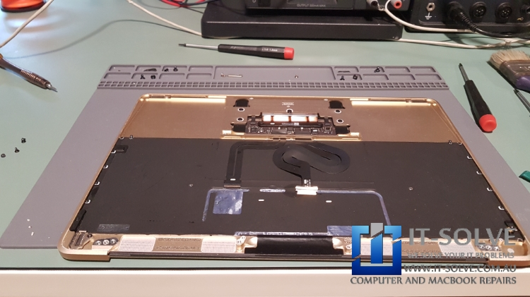 Palm Rest / Top Plate assembly which has Macbook keyboard attached to it