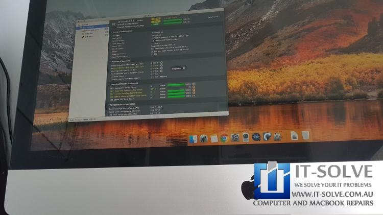 iMac slow loading repair - Hard Drive tests showing failing drive