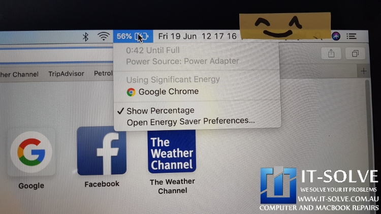 Battery charging and no more Service Battery sign on Macbook
