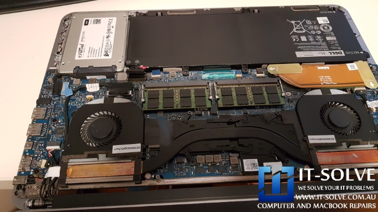 Heatsink discolouration on the GPU pipe side - Dell Laptop Repairs