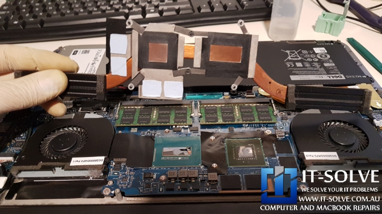 Replacing thermal compound on Dell Laptop Repairs