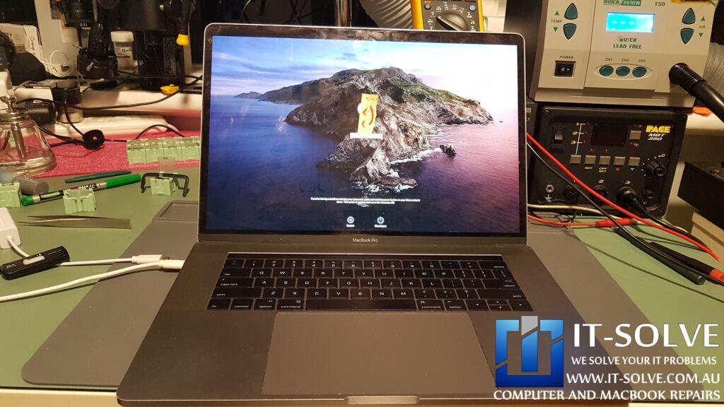 """Successfully repaired liquid damaged 15"""" Macbook Pro"""