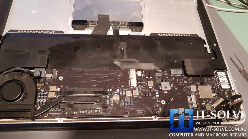 Water leaked inside - Macbook water damage repair