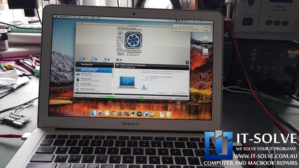 Testing sensors - Macbook Air Water Damage Repair