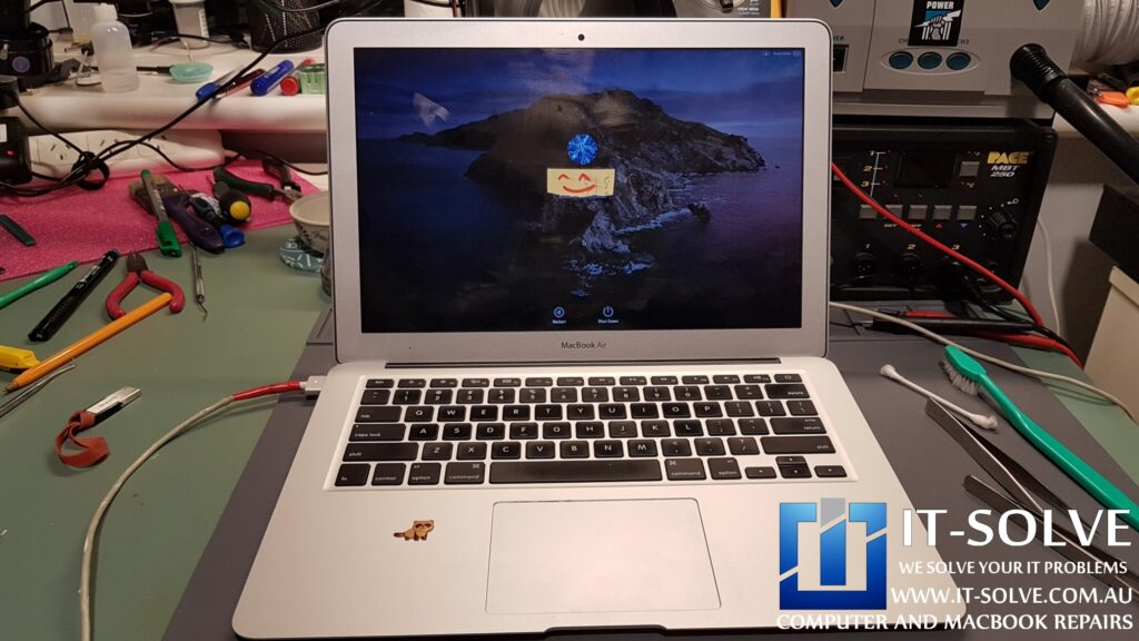 Firing up Macbook Air after a successful repair