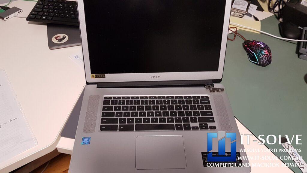 Acer Chromebook showing Black screen after a broken hinge