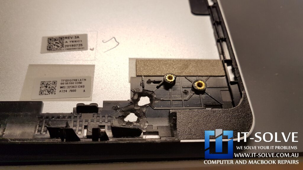 Damaged hinge support on Acer Chromebook Repair