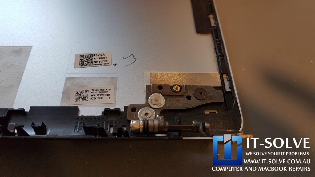 Repaired Acer Chromebook Hinge support