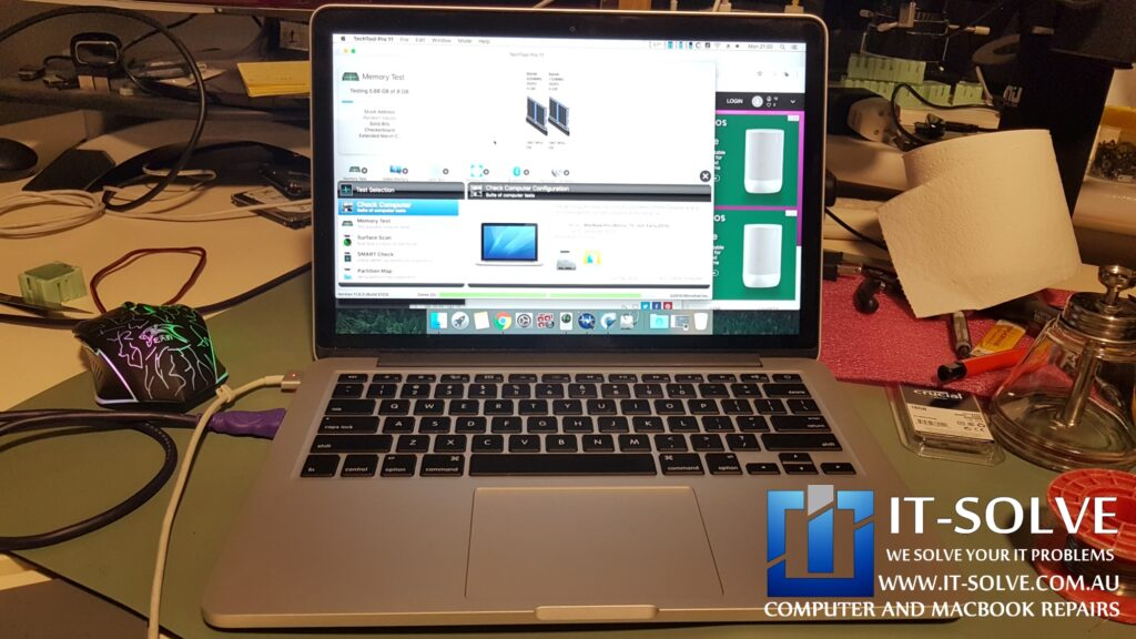 Macbook passing all tests and left on overnight streaming to ensure stability