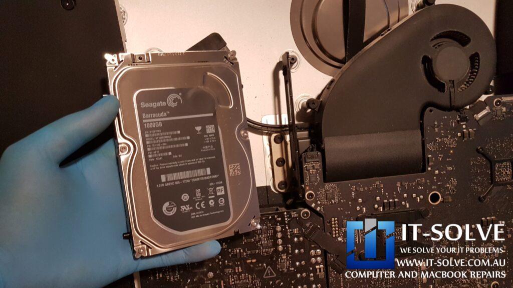 "Replacing a hard drive of 27"" 2014 model iMac - Slow iMac spinning wheel repair"