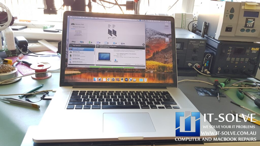 Testing Macbook Pro Retina with Repaired Graphics Card
