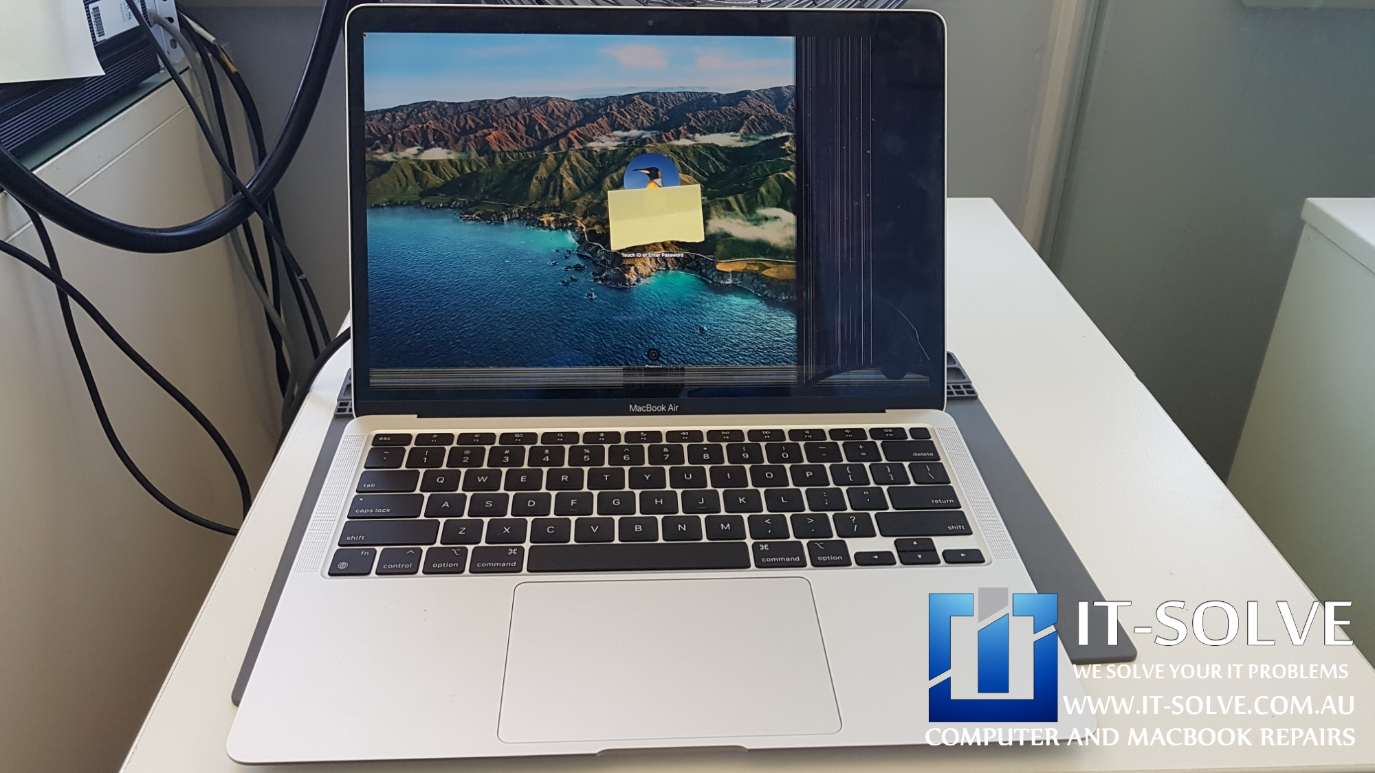 Macbook Air broken screen replacement A2239 2019