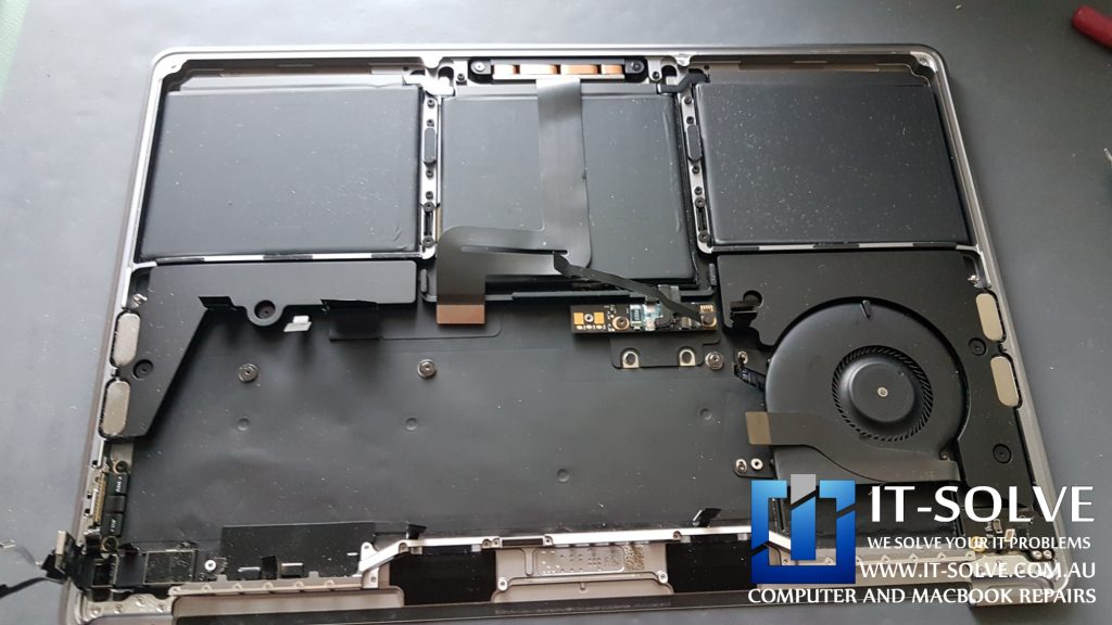 Palmrest assembly which gets replaced for 3 times the cost by Apple instead of the touchbar only