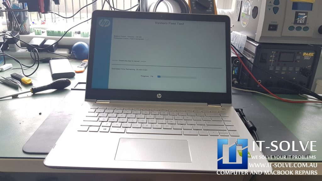 HP Envy x360 Repaired and Running tests