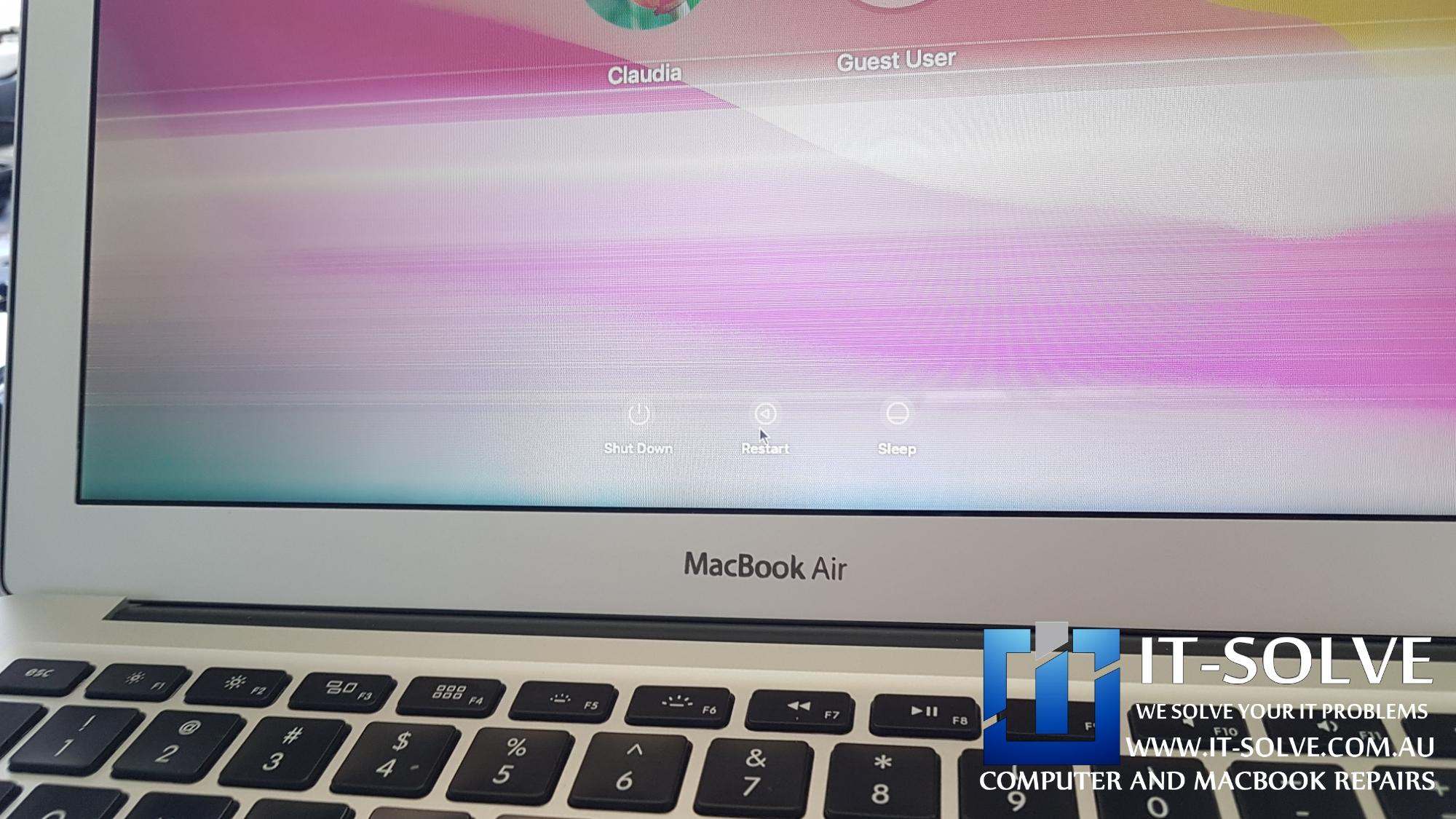Macbook Air flickering screen repair