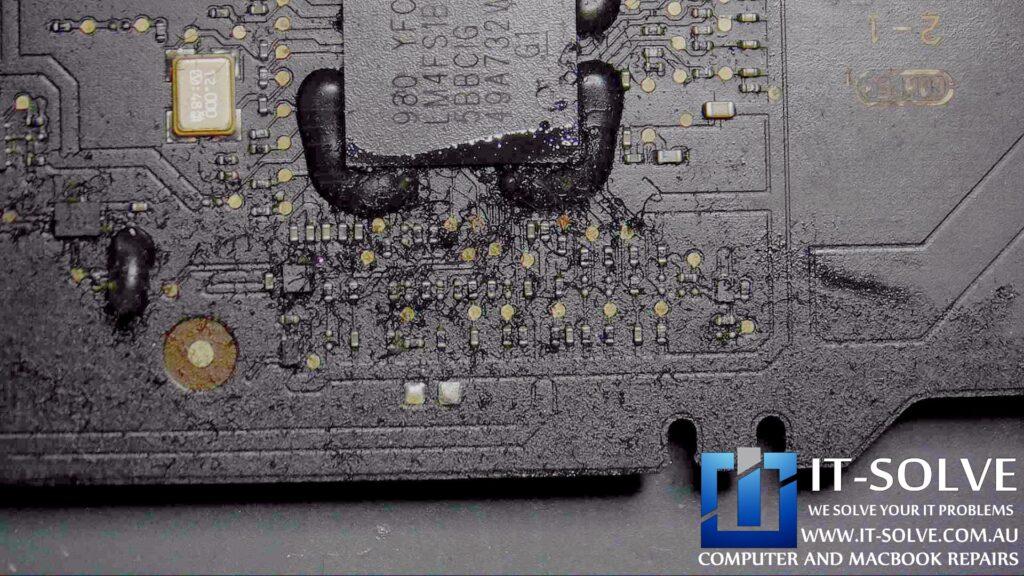 SMC controller on a Macbook Air water damage repair